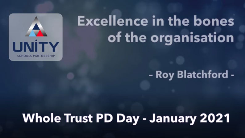 Roy Blatchford talks about 'Excellence in the bones of the organisation